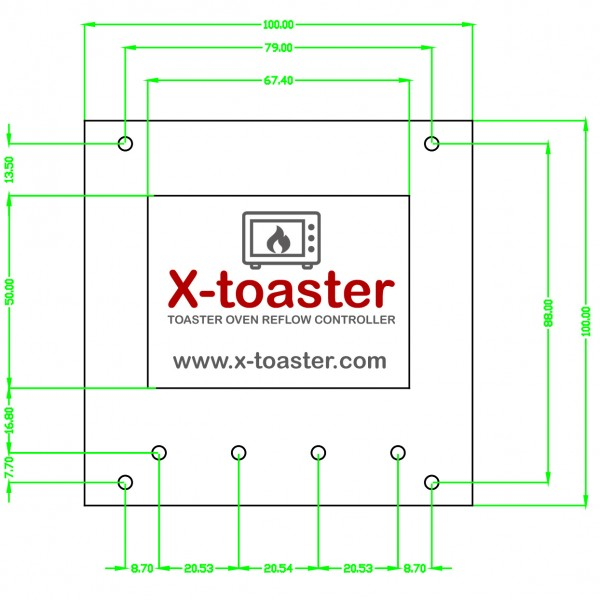 X-toaster - Front Panel Layout